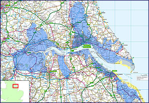 Humber Estuary Map